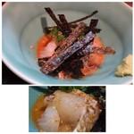 69897276 - ◆鯛の胡麻和え・・胡麻たれの味わいもよく、これも好み。