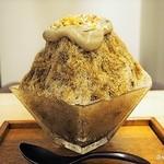 茶CAFE 竹若 - ほうじ茶ティラミスかき氷