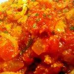 R cafe - トマトソースです、酸味が和らいでいて美味しかったです