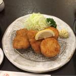 すゞ家 - ヒレカツ・ホタテ盛合せ定食