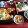 次男坊亭 - 料理写真:上天重うどんセット