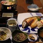 和食居酒屋 旬門 - 焼き鯖定食1300円