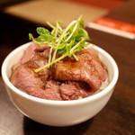 Yo-shoku OKADA - 岐阜県産和牛ローストビーフ丼ミニ…680円