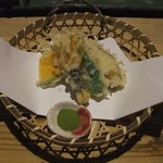 湯布院温泉 御宿 由布乃庄 - 【夕食】塚原高原野菜の天麩羅