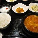 とんとり - 純豆腐チゲ(ランチ) ¥780-