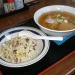 食事処青峰 - 料理写真:半チャン ラーメン 730円