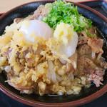 やなぎ屋 - 料理写真:温玉肉ぶっかけ冷(大)¥580