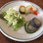 香菜軒 寓 - 野菜のおかず盛合せミニ