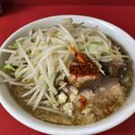 ラーメン二郎 - ラーメン小・麺半分(ニンニクすこし・ラー油すこし)(700円)