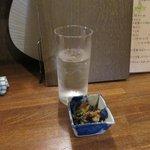 あずまし亭 - 焼酎水割り&お通し2017.07.09