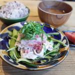 ネマルカフェ - 梅おろし冷しゃぶ定食(950円)