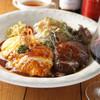 洋食屋桜亭 - 料理写真:オムライスとハンバーグのセット