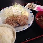 おおどりぃ - 大きい若鶏唐揚げ定食(税込500円)
