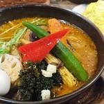 スープカレーGARAKU - やさい15品目大地の恵+炙りチーズ 1190円