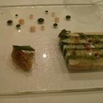 69936092 - 活〆鱧と水菜、長芋のテリーヌ