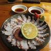 魚虎 - 料理写真:地タコ刺 680円(薄造りで)