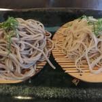 69940623 - 天ぷら付き 二色蕎麦定食(九割・十割蕎麦)
