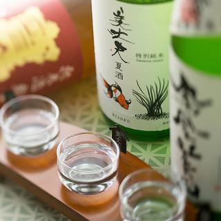 季節ごとに仕入れる《日本酒》