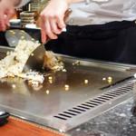 鉄板焼き いわ倉 - 鉄板焼きご飯
