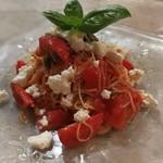 PIZZERIA Napoli  - 冷製トマトとリコッタチーズのカッペリーニ