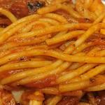 スパゲッティーのパンチョ - スパゲッティのパンチョ 渋谷店 スパゲティに使われる2mmほどの太さのモチモチ麺
