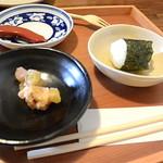 角 倉 - 野菜天とおかわりのおにぎり