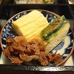 角 倉 - 牛肉のすき煮と出汁巻玉子