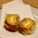 天ぷらと日本酒 明日源 - 肉巻きとうもろこしチーズ
