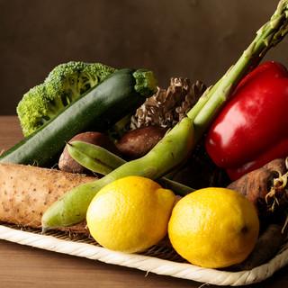 取れたて有機野菜をシンプルに食す