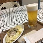 タミルズ - 牡蠣のポテサラとビール。