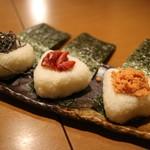 魚河岸本舗 魚魚屋 - おにぎり(塩コブ・梅・鮭)
