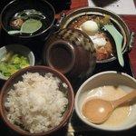 鳥元 - 鶏すき焼き定食 \920