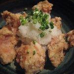 鳥元 - 揚げ若鶏定食の唐揚
