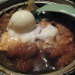 鳥元 - 鶏すきやき定食アップ