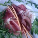 BIANCA - イタリア産 生ハムとサラミの盛り合わせ 自家製グリッシーニ添え