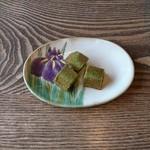 バル・ドゥ・ラパン - サービスの抹茶のフィナンシェ