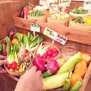 《食べ放題》季節の野菜のせいろ蒸し