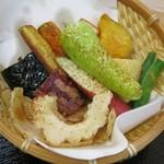 鎌倉野菜カレー かん太くん - 「素揚げ野菜」のアップ。