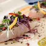 """L'ISOLETTA - 濃厚な「鯛」の味わいを堪能できるひと皿『真鯛の""""しゃぶしゃぶ""""と大根のマリネ』"""