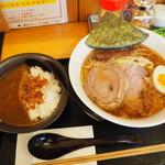 まる勝 - 牛こくラーメン980円+半カレー390円