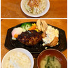 タカサキハンバーグ - 料理写真:ハンバーグ+温玉&チキン南蛮のセット1290円 (期間限定バルサミコ酢のソース)