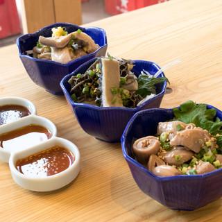 当店の名物料理『モツ』新鮮なモツを使用!味と食感は格別!