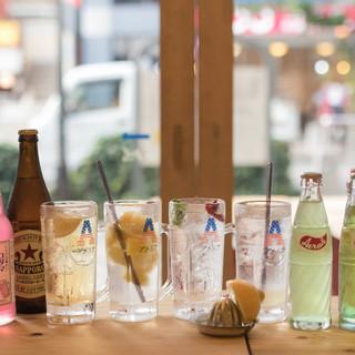 メニュー充実!愛媛県岩城島から取り寄せレモンサワー日本酒各種