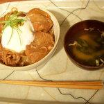 Kanbutsu Cafe - 麩レカツ丼¥750