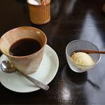 和 Ann あん藤 - お任せランチの珈琲と豆乳梅アイスクリーム