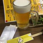 <札幌成吉思汗> 雪だるま - 乾杯ビール