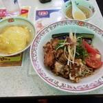 餃子の王将 - あだち冷麺とジャストサイズ天津飯