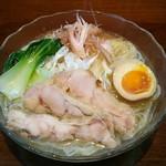 こくまろ鶏らーめん 久久 - 澄んだ鶏スープの冷どんです!750円