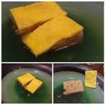 四川料理 巴蜀 - ◆豚肉を揚げたもち米と合わせ、薄焼卵で巻いた品。