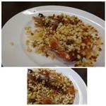 四川料理 巴蜀 - ◆芝海老のお米炒め・・前回も頂きましたが、これ好きです。 一度アルファ化したお米を、クミンや山椒など炒め海老と絡めてあります。